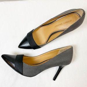 Audrey Brooke Abbie Black Gray Pump Heel 7.5M